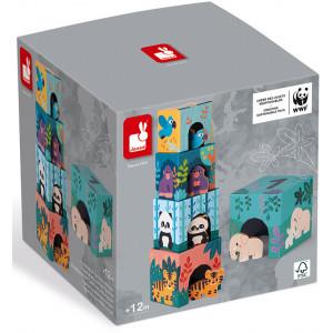 "Jouet Pyramide et figurines ""Animaux"" (1-3 ans) Janod"