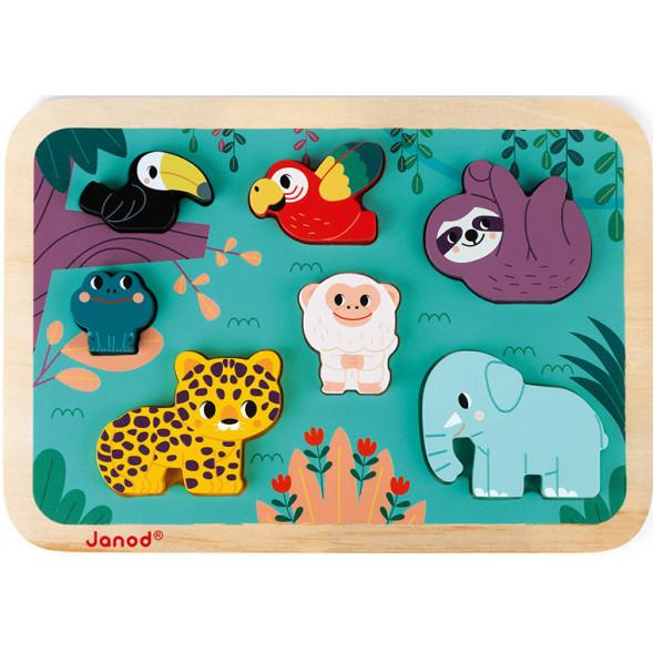 """Puzzle en bois """"Chunky  Jungle"""" (18 mois-3 ans)"""