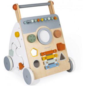 """Chariot de marche multi-activités en bois """"Sweet Cocoon"""" (1-3 ans) Janod"""