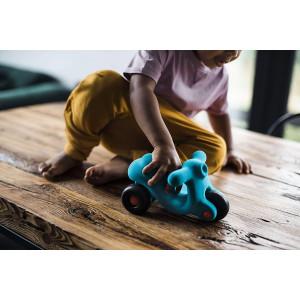 """Jouet Scooter en caoutchouc naturel """"Bleu"""" (20 cm) Rubbabu"""