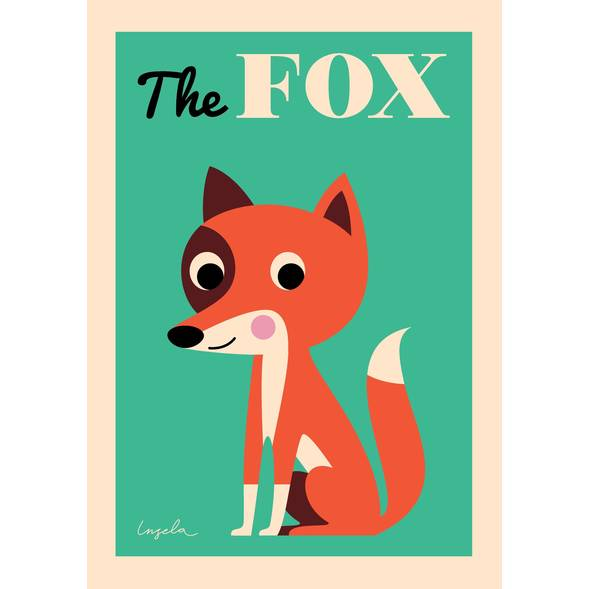 "Affiche ""The Fox"" par Ingela P Arrhenius"
