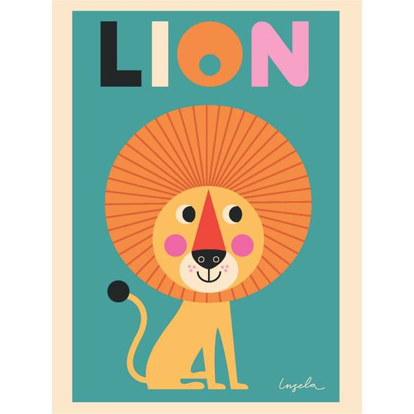 Affiche lion - omm design -