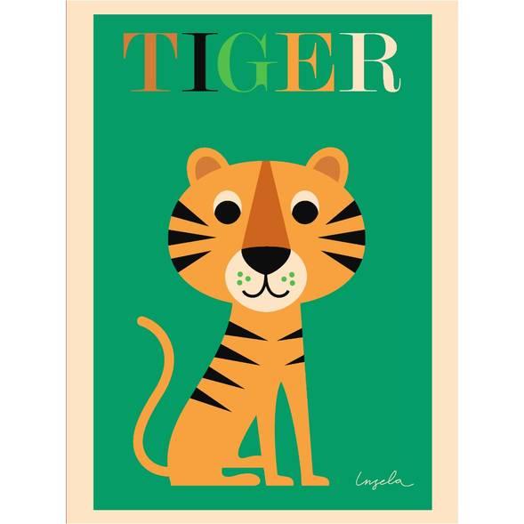 """Affiche """"Tiger"""" par Ingela P Arrhenius"""