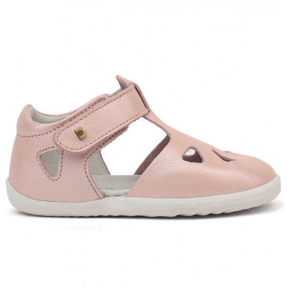 """Sandales Step up  en cuir imperméable Quickdry Zap """"Rose Coquillage"""""""