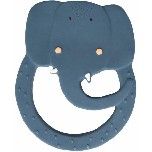 """Anneau de dentition rond en caoutchouc naturel """"Mrs Elephant"""""""