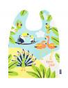 """Grand bavoir enfant en coton bio """"Love is in the Air"""" (2-5 ans) Coq en Pate"""