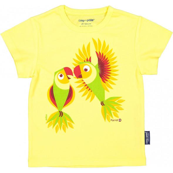"""T-shirt manches courtes en coton bio """"Mibo Perruche"""""""