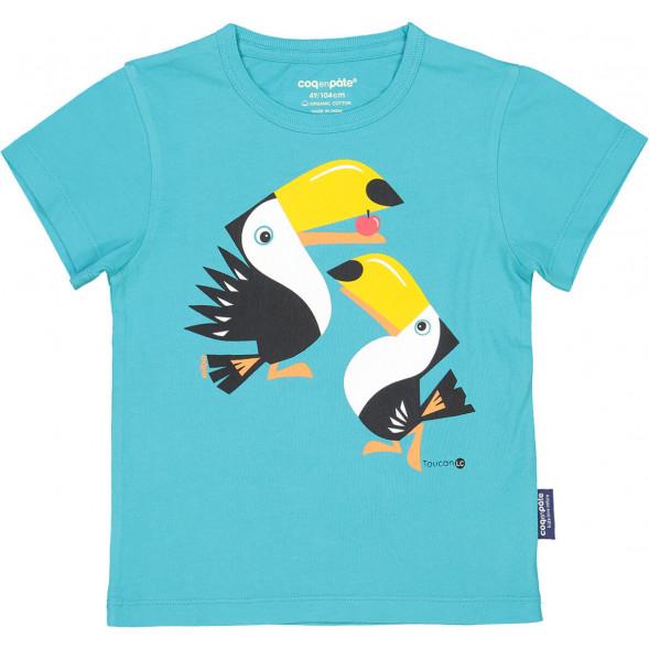 """T-shirt manches courtes en coton bio """"Mibo Toucan"""""""
