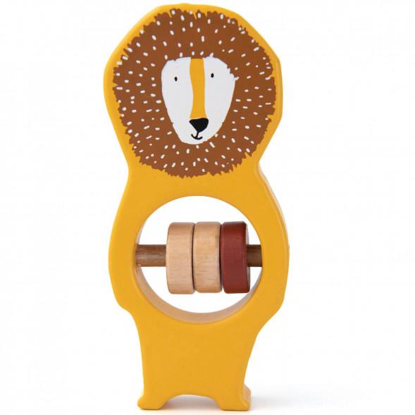 """Hochet en bois """"Mr Lion"""""""