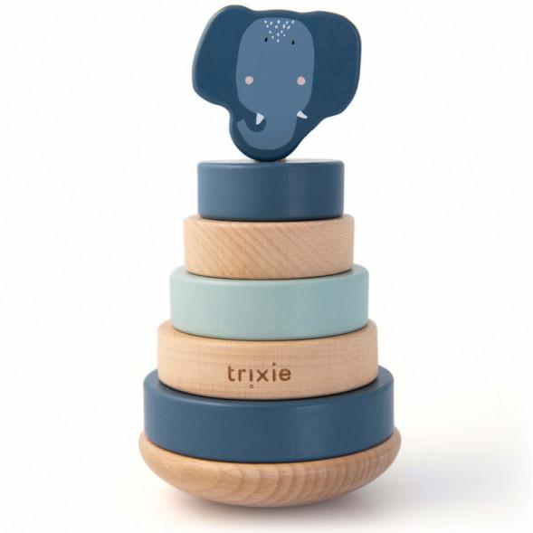 """Culbuto en bois à empiler """"Mrs Elephant"""" (1-3 ans)"""