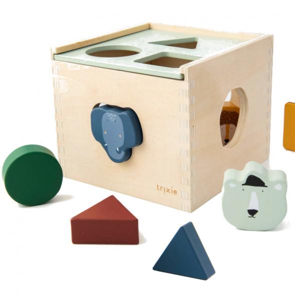 """Cube d'éveil à encastrer en bois """"Animaux"""" (1 an et +)"""