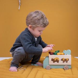 """Jouet en bois bébé à tirer """"Camion Animaux"""" (1 an et +) Trixie Baby"""