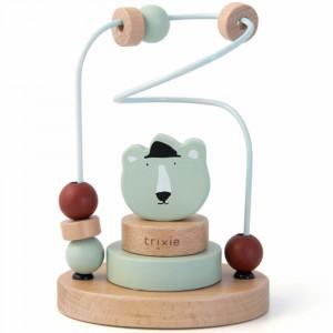 """Jouet en bois bébé Labyrinthe de perles """"Mr Ours Polaire"""" (1 an et +) Trixie Baby"""