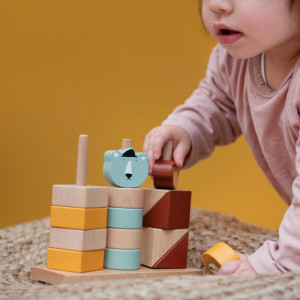 """Jouet en bois bébé à empiler """"Animaux"""" (1-3 ans) Trixie Baby"""