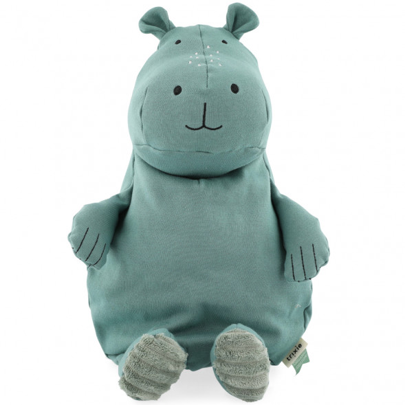 "Peluche en coton bio ""Mr Hippo"" (38 cm) Trixie Baby"