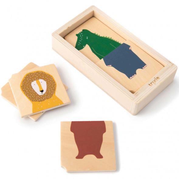 """Puzzle bébé en bois """"Combo Animaux"""" (1 an et +)"""