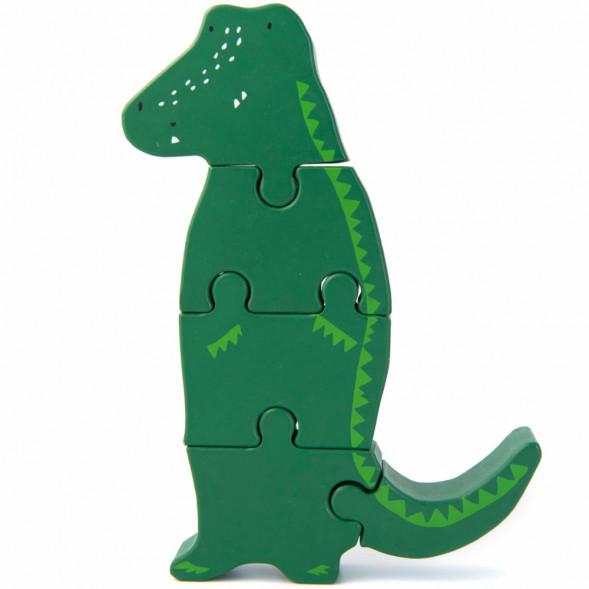"""Puzzle en bois """"Mr Crocodile"""" (1-3 ans)"""