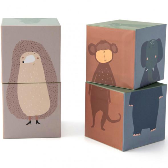 "Cubes en carton ""Animaux"" (1 an et +)"