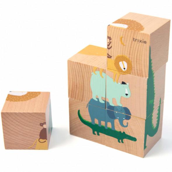 """Cubes en bois """"Puzzle Animaux"""" (1-3 ans)"""