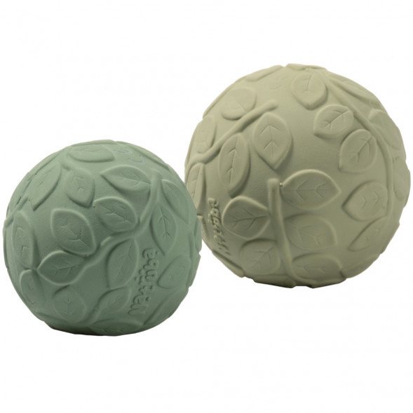 "Balles sensorielles en hevea ""Feuillage Green"" (x2)"