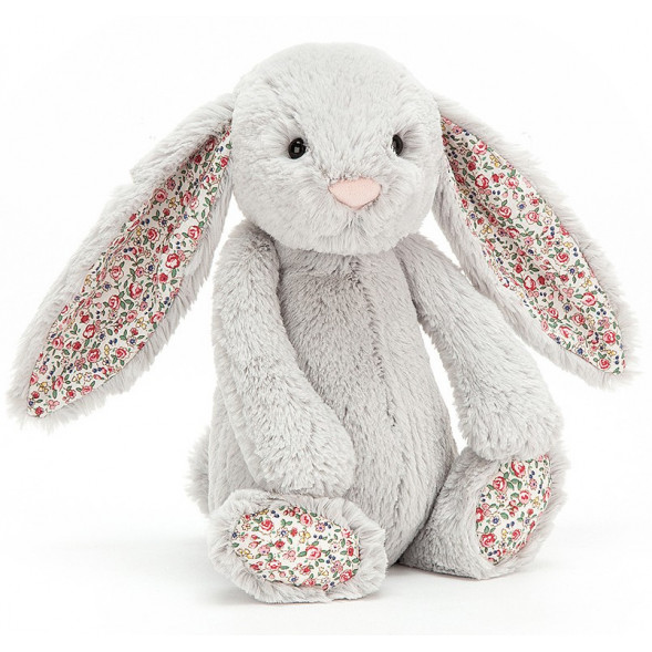 "Peluche Bashful Lapin ""Argent Blossom"" (31 cm)  Jellycat"