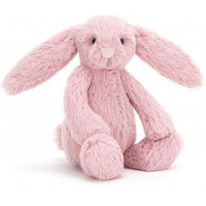 Petite peluche lapin Bashful rose tulipe bunny jellycat
