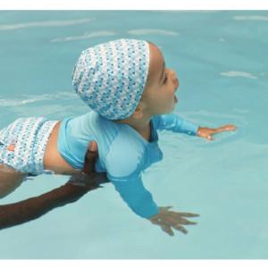"""Bonnet de bain bébé enfant (3 mois/5 ans) """"Baptême de l'air"""" Hamac"""