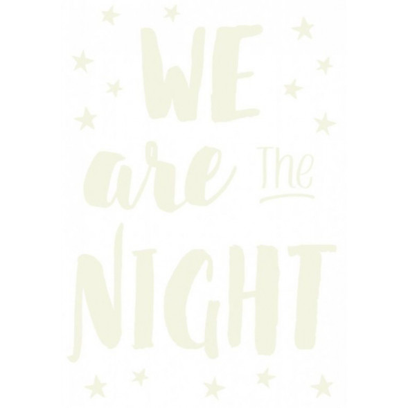 """Stickers Phosphorescents """"We are night"""" (29,7x 42 cm) - OUTLET"""