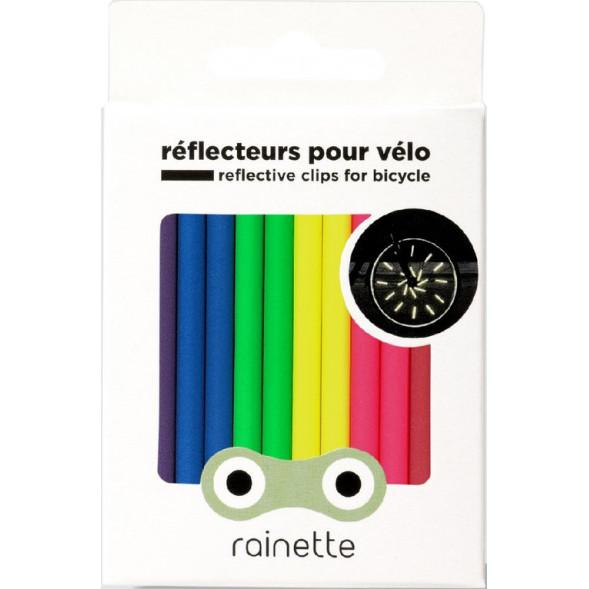 """Réflecteurs pour roues de vélo """"Fluo"""""""