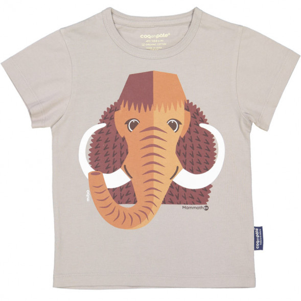 """T-shirt manches courtes en coton bio """"Mibo Mammouth"""""""