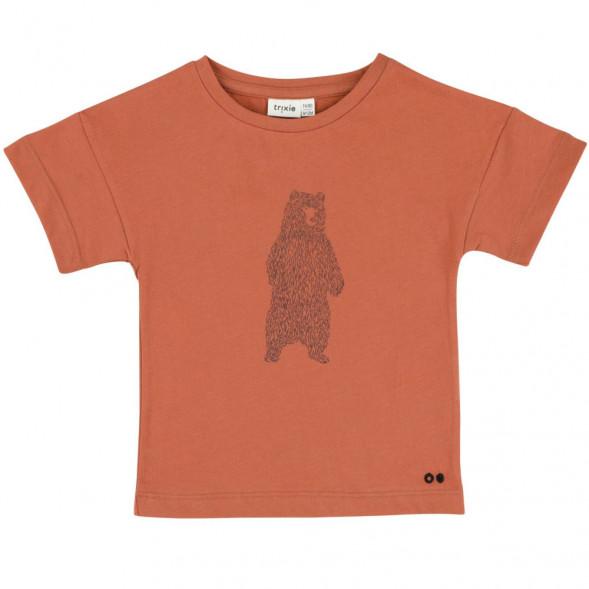 """T-shirt manches courtes en coton bio """"Brave Bear"""""""