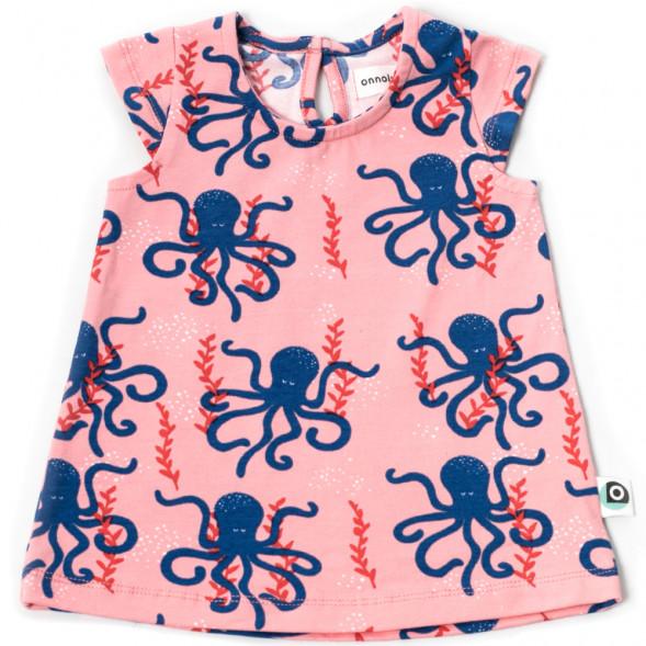 "Robe bébé en coton bio Kikka ""Octopus"""