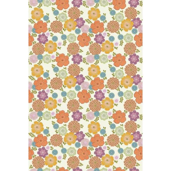 "Papier peint ""Flower Vintage White"" (200x300)"