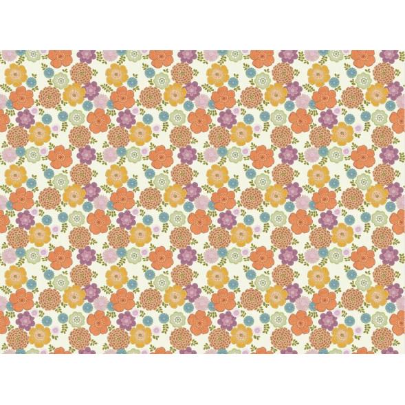 "Papier peint ""Flower Vintage White"" (400x300)"
