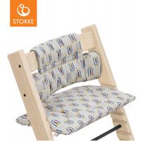 """Coussin pour chaise haute Tripp Trapp en coton bio """"Robot Gris"""" Stokke"""