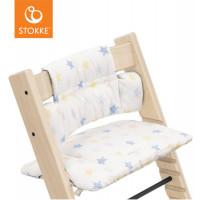 """Coussin pour chaise haute Tripp Trapp en coton bio """"Etoiles Multi"""" Stokke"""