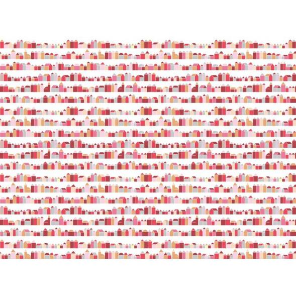 """Papier peint """"Maisons Rouges"""" (400x300)"""