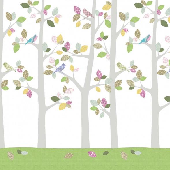 """Papier peint """"Forêt en Mai"""" (300x300)"""