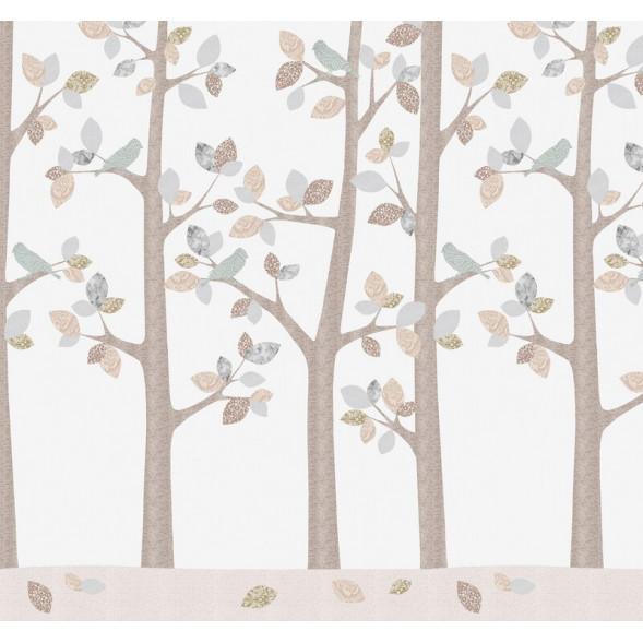 """Papier peint """"Forêt en Février"""" (300x280)"""