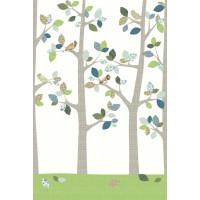 """Papier peint enfant Vintage """"Forêt en Juin"""" (200x300) Inke"""