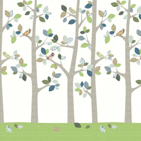 """Papier peint """"Forêt en Juin"""" (300x300)"""