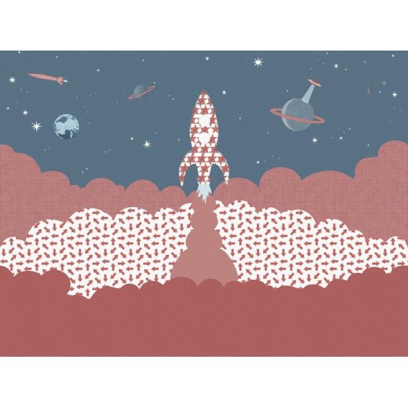 """Papier peint """"Fusée Rouge"""" (400x300)"""