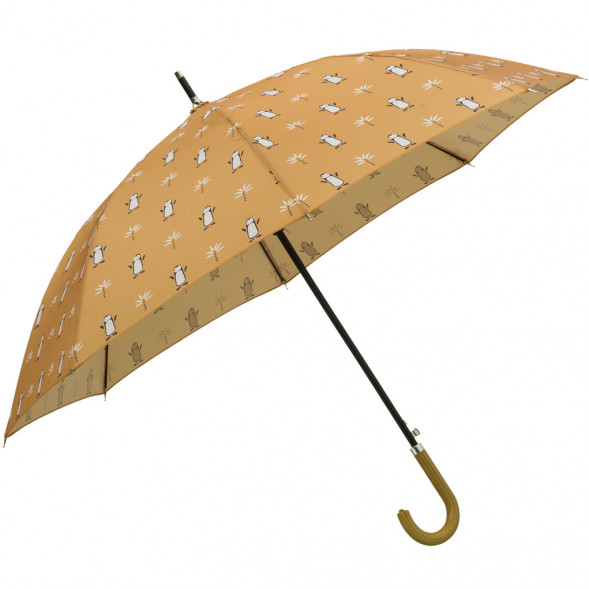 """Parapluie en PET Recyclé et simili-cuir """"Pingouin"""""""
