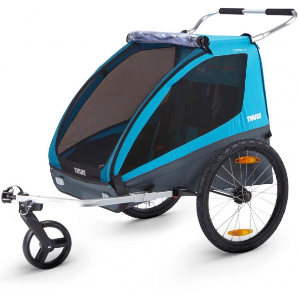 """Chariot Coaster XT """"Bleu""""  (Remorque-vélo, & Poussette 2 places)"""