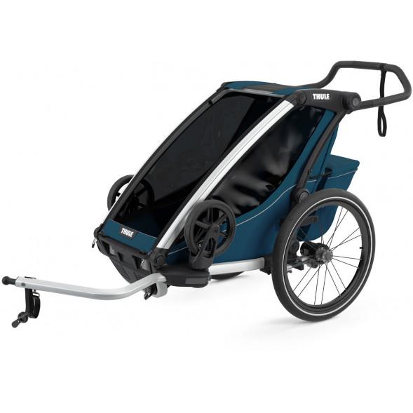 """Chariot Cross """"Majolica Blue"""" (Remorque-vélo, Poussette & Jogger 1 place)"""