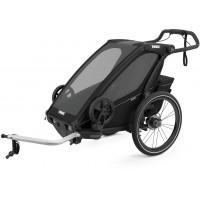 """Chariot Sport """"Midnight Black"""" (Remorque-vélo, Poussette & Jogger 1 place) Thule"""