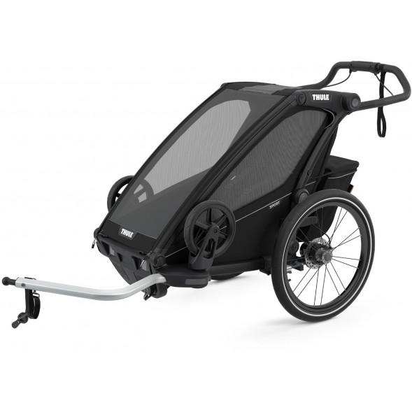 """Chariot Sport """"Midnight Black"""" (Remorque-vélo, Poussette & Jogger 1 place)"""