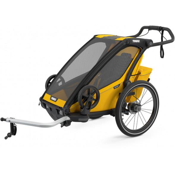 """Chariot Sport """"Black/Spectra Yellow"""" (Remorque-vélo, Poussette & Jogger 1 place)"""