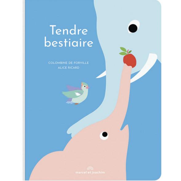 "Livre en carton ""Tendre Bestiaire"" (12 mois et +) de Alice Ricard & Colombine de Forville"