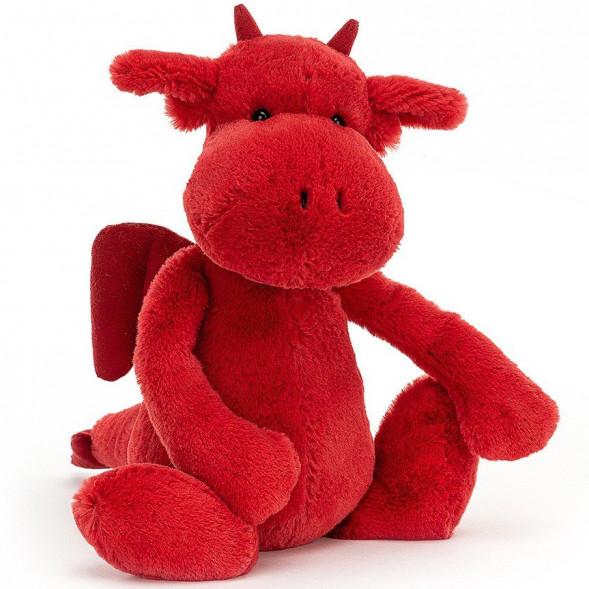 Peluche Bashful Dragon Rouge (31 cm)